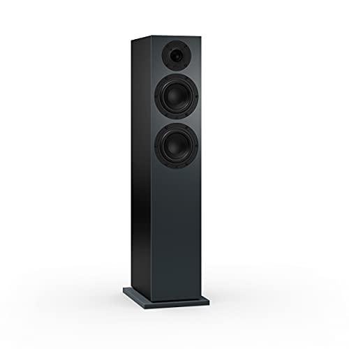 Nubert nuBoxx B-60 | Standlautsprecher in Schwarz/Grau | 1 Stück Passivbox | Lautsprecher für Stereo & Musikgenuss | Standbox neben dem Lowboard | Lautsprecher mit 2.5 Wege Technik | Box für Heimkino