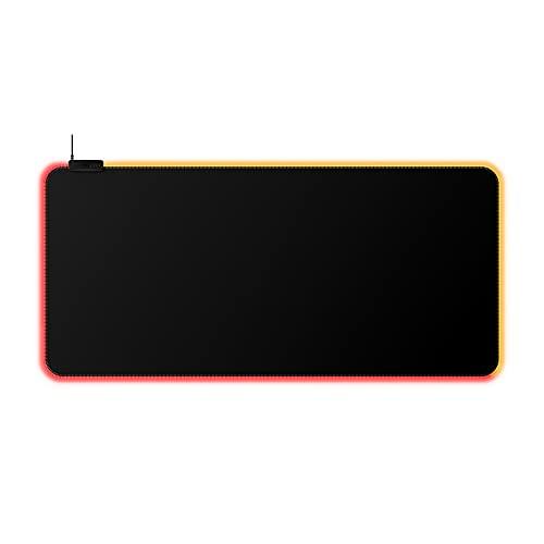 HyperX Pulsefire Mat – RGB-Mauspad, XL, RGB-Beleuchtung, rollbare Textiloberfläche, interner Speicher, Touch-Sensor-Profilumschaltung, rutschfeste Gummiunterseite, HyperX NGENUITY Software