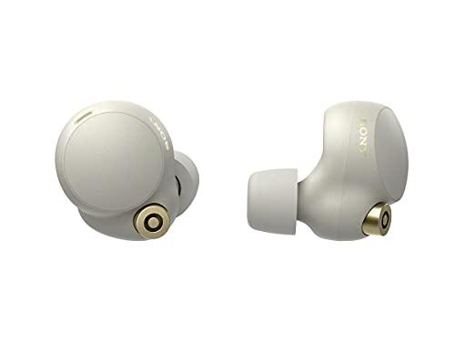 Sony WF-1000XM4 True Wireless Noise Cancelling-Kopfhörer (bis zu 24 Stunden Akkulaufzeit, stabile Bluetooth Verbindung, optimiert für Alexa und Google Assistant, Freisprecheinrichtung) Silber