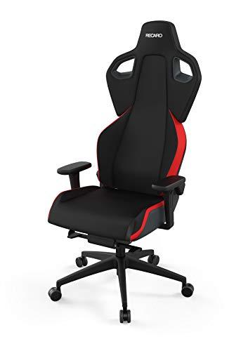 RECARO Exo Gaming Chair   Lava Red – Ergonomischer, atmungsaktiver Gaming-Stuhl mit Feinjustierung - Designed & Made in Germany