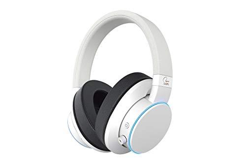 Creative SXFI AIR Bluetooth- und USB-Kopfhörer mit Super X-Fi Audio-Holographie-Technologie, 50-mm-Treibern, microSD-Kartenleser, Touch-Steuerung, und Umgebungsüberwachung für Filme und Musik (Weiß)