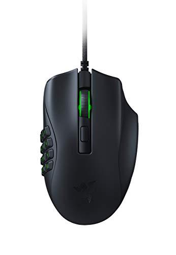Razer Naga X - Ergonomische MMO-Gaming-Maus mit 16 programmierbaren Tasten (Optische Maus-Switches, optischer 5G-Sensor, Chroma RGB, Speedflex-Kabel) schwarz