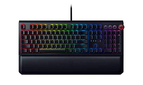 Razer BlackWidow Elite - Premium Mechanical Full-Size Gaming Keyboard (Tastatur mit Razer Green Switches (Taktil & Klickend), Handballenauflage, RGB Chroma Beleuchtung) DE-Layout