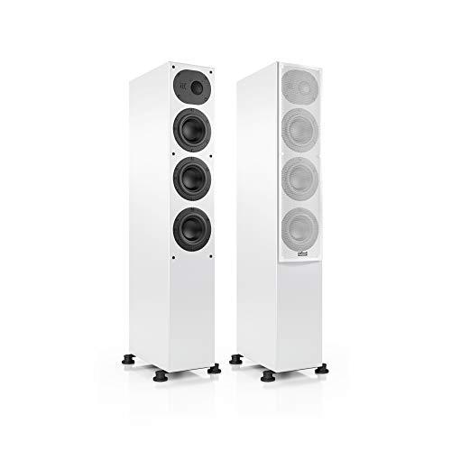 Nubert nuLine 244 Standlautsprecherpaar | Lautsprecher für Stereo | Heimkino & HiFi Qualität auf hohem Niveau | Passive Standboxen mit 2.5 Wegen Made in Germany | Kompakte Standbox Weiß | 2 Stück
