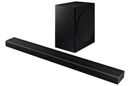 Samsung HW-Q60T Soundbar - 360 W, 5,1 Ch, kabelloser Subwoofer, Dolby Digital 5.1, DTS Virtual:X, Q-Symphony und Acoustic Beam-Technologie