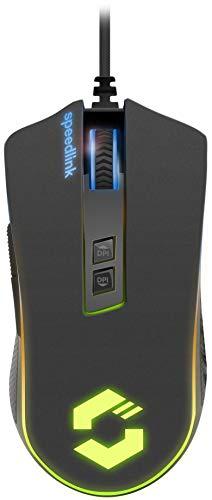 Speedlink ORIOS RGB Gaming Mouse - USB-Gaming-Maus mit RGB-Beleuchtung - 7 programmierbare Tasten - schwarz