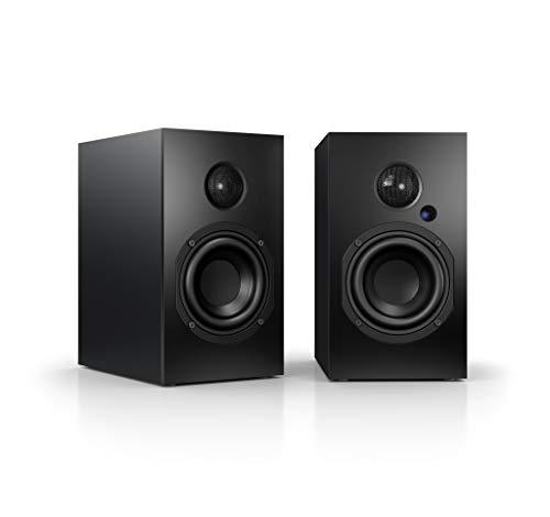 Nubert nuBox A-125 Regallautsprecherpaar   PC-Lautsprecher mit Bluetooth aptX   HiFi-Lautsprecher für das Wohnzimmer   aktive Regalboxen mit 2 Wege Technik   Kompaktlautsprecherset Schwarz  2 Stück