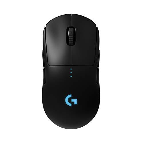 Logitech G PRO Wireless Gaming-Maus mit HERO 25K DPI Sensor, RGB-Beleuchtung, 4-8 programmierbare Tasten, anpassbare Spielprofile, Ultraleicht, POWERPLAY-kompatibel, PC/Mac - Schwarz
