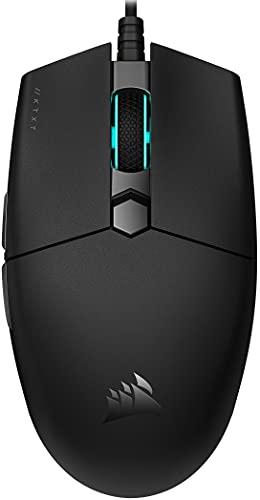 Corsair KATAR PRO XT Ultraleichte Gaming-Maus (symmetrische Form, Optimal für Claw und Fingertip-Griffstil, Corsair QUICKSTRIKE federgelagerte Tasten, 18.000 DPI Optischer Sensor) Schwarz