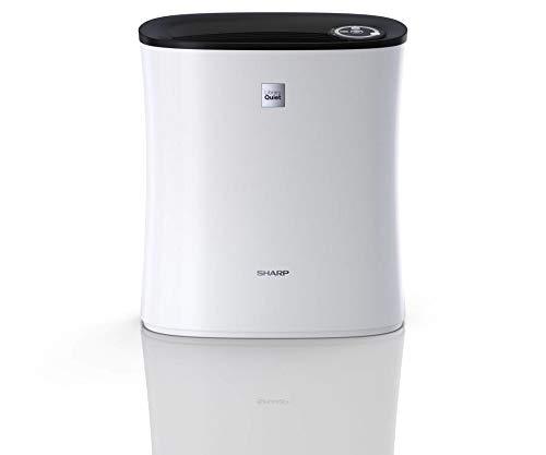 Sharp UA-PE30E-WB Luftreiniger mit HEPA-Filter und Schlafmodus, geeignet für 21 m² - Weiß / Schwarz