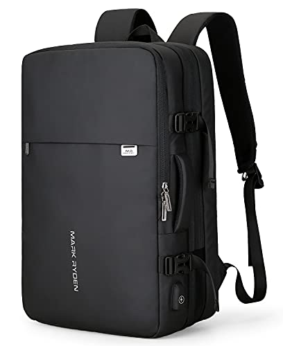 Mark Ryden Handgepäck Rucksack 25L-40L zum Mitnehmen Wasserdichter Laptop-Wochenendrucksack für 15,6/17,3-Zoll-Laptops, Diebstahlschutz, fluggeprüfter Rucksack, Handgepäckrucksack für Wochenendtrips