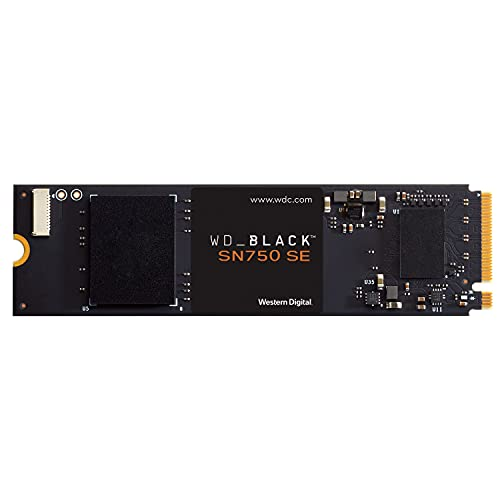 WD_BLACK SN750 SE 500GB PCIe Gen4 NVMe Gaming SSD, with up to 3,600MB/s read speed