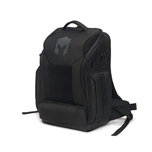 CATURIX ATTACHADER - Gaming-Rucksack für Laptops und Konsolen bis 15,6', Wasserabweisender Rucksack mit 28l Volumen, Schwarz