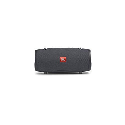 JBL Xtreme 2 Musikbox in Gun Metal – Wasserdichte, portable Stereo Bluetooth-Lautsprecher-Box mit integrierter Powerbank – Mit nur einer Akku-Ladung bis zu 15 Stunden Musikgenuss