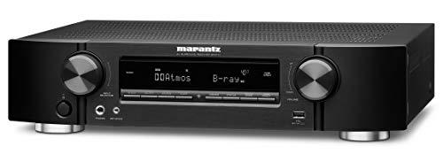 Marantz NR1711 7.2-Kanal AV-Receiver, Hifi Verstärker, Alexa kompatibel, 6 HDMI Eingänge und 1 Ausgang, 8K-Video, Bluetooth, WLAN, Musikstreaming, Dolby Atmos, AirPlay 2, HEOS Multiroom, Schwarz