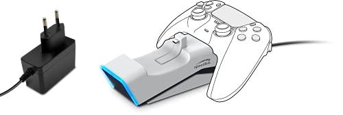 Speedlink TWINDOCK Ladestation - Controller Ladegerät mit zwei Steckplätzen inkl. A/C Adapter für PS5, weiß