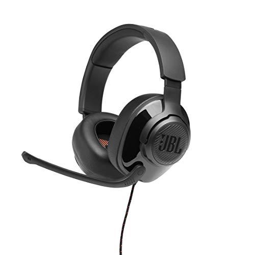 JBL Quantum 200 Over-Ear Gaming Headset – Wired 3,5 mm Klinke und PC-Splitter – Mit hochklappbarem Boom-Mikrofon – Kompatibel mit vielen Plattformen – Schwarz