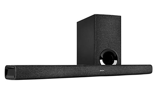 Denon DHT-S416 hochwertige 2.1 TV Soundbar mit kabellosem Subwoofer, Google Chromecast integriert, WLAN, Bluetooth, Dolby Digital, HDMI ARC, optischer Eingang