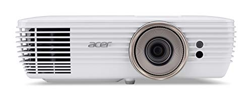 Acer V7850BD DLP Beamer (4K UHD (3.840 x 2.160 Pixel) 2.200 Lumen 1.200.000:1 Kontrast, 3DFALSCH, Lens Shift, 2x 5 Watt Lautsprecher, HDMI (HDCP), HDMI (mit MHL und HDCP), Audio Anschluss) Home Cinema
