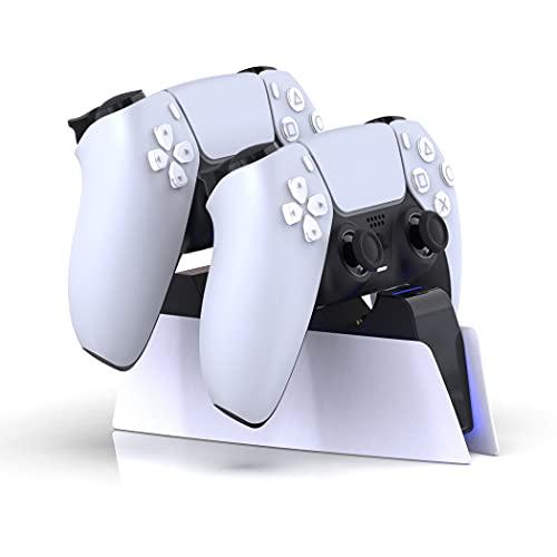Lioncast Controller Ladestation für PS5 mit LED-Anzeige | Fast Charging | Controller Charger für original Sony Playstation 5 Controller | PS5 Zubehör | Wireless Playstation DualSense Controller