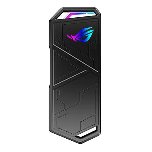 ASUS ROG Strix Arion S500 Portable SSD (USB-C 3.2 Gen 2, NVMe-SSD mit DRAM für Übertragungsraten von bis zu 1050MB/s, 500GB Kapazität, 256-Bit AES-Festplatten- und Datenverschlüsselung, Aura Sync)