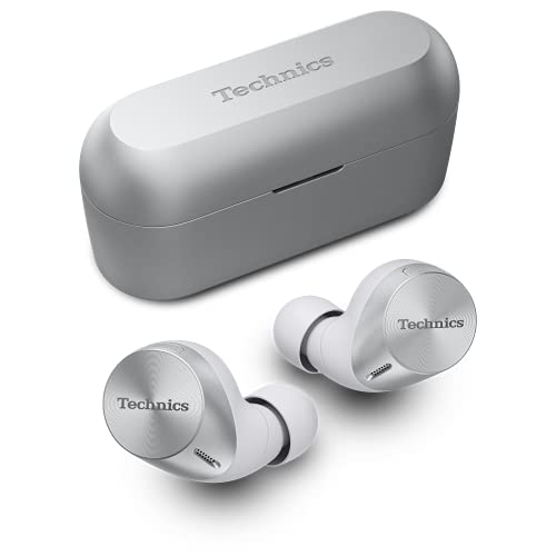 Technics EAH-AZ60 Kopfhörer mit Geräuschunterdrückung, kabellos, JustMyVoice™-Technologie, silberfarben