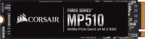 Corsair MP510, Force Series, 480GB M.2 NVMe PCIe x4 Gen3 SSD (Lesegeschwindigkeitenvon bis zu 3.480 MB/s sowie sequenziellen Schreibgeschwindigkeiten bis 2.000 MB/s, Hochdichter 3D TLC NAND) Schwarz