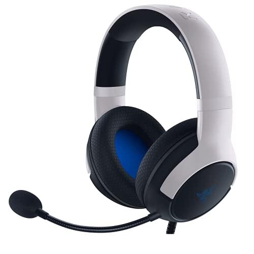 Razer Kaira X Headset für Playstation 5, PC, Mac und Mobile Geräte: Triforce 50 mm Treiber, HyperClear Nierenmikrofon, Flowknit Memory Foam Ohrpolster, On-Headset-Steuerung, Weiß/Schwarz