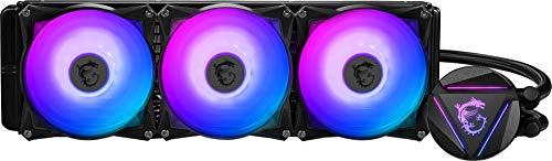 MSI MAG CORELIQUID 360R (CPU-Wasserkühlung, 360 mm, 3 Lüfter, Intel 115x/1200, AMD AM4/AM3+/TR4, schwarz, RGB)