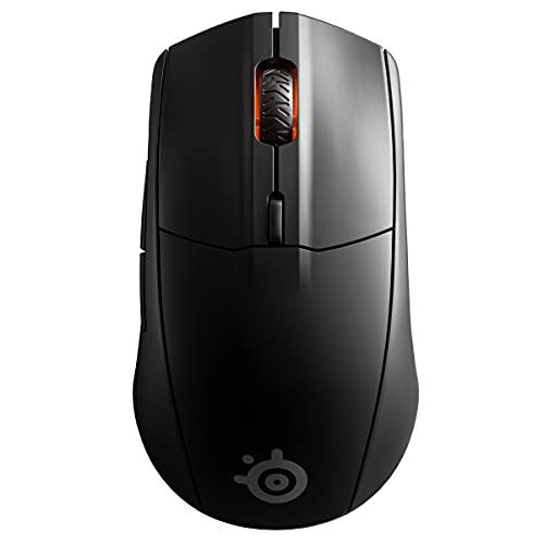 SteelSeries 62521 Rival 3 Wireless - Wireless Gaming-Maus - Über 400 Stunden Akkulaufzeit - Dual Wireless 2.4 GHz und Bluetooth 5 - 60 Millionen Klicks, Schwarz
