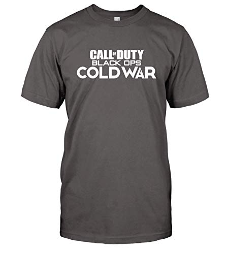 Call of Duty Black Ops Cold War T-Shirt COD MW Top Tee (X-Large, Charcoal Grey)