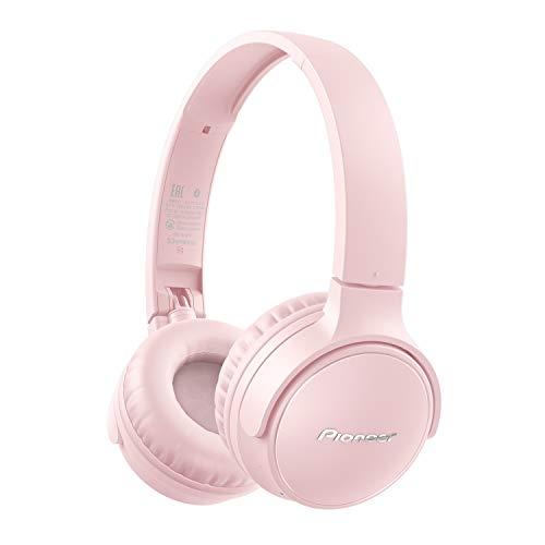 Pioneer S3 Wireless On-Ear Bluetooth 5.0 Kopfhörer (faltbar, 25 Stunden Akku, Schnellladefunktion, Freisprecheinrichtung, Lautstärkenregelung), Rosa, One Size, SE-S3BT(P) CZU