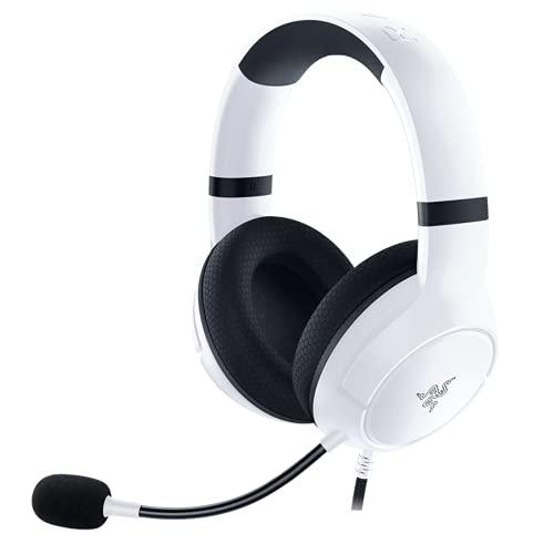 Razer Kaira X Headset mit Kabel für Xbox Serie X|S, Xbox One, PC, Mac und mobile Geräte: Triforce 50 mm Treiber, HyperClear Nierenmikrofon, Flowknit Memory Foam, Ohrpolster, On-Headset-Steuerung, Weiß