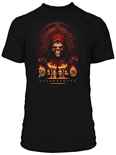 JINX Diablo II: Resurrected Key to Darkness Herren Gamer Graphic T-Shirt, schwarz, XX-Large
