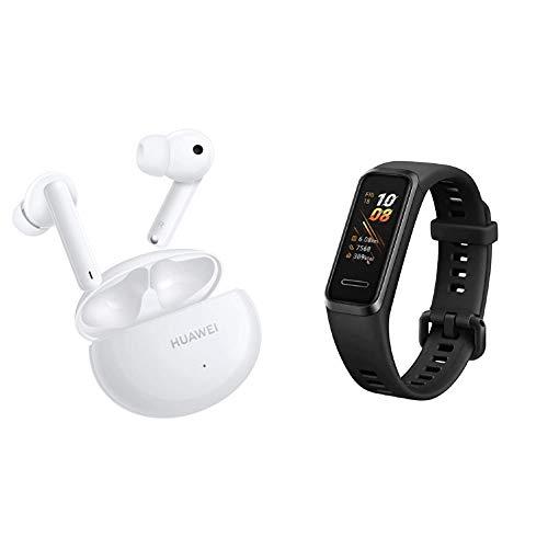 HUAWEI FreeBuds 4i Kabellose In-Ear-Bluetooth-Kopfhörer mit aktiver Geräuschunterdrückung, schnellem Aufladen, langer Akkulaufzeit, Keramik Weiß, Garantieverlängerung auf 30 Monate