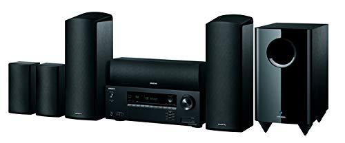 Onkyo HT-S5915 5.1.2-Kanal Heimkinoanlage (HAT-R495 Reciver + HTTP-598 Lautsprechersystem; Dolby Atmos, 3D Raumklang, AccuReflex Funktion, Bluetooth), Schwarz