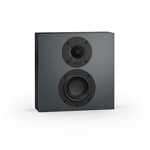 Nubert nuBoxx BF-10 | Wandlautsprecher in Schwarz/Grau | 1 Stück Passivbox | Box für Heimkino & Musik | Flacher Onwall-Lautsprecher | Surroundbox mit 2 Wege | Kompaktlautsprecher für Wandmontage