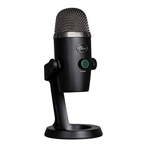 Blue Microphones Yeti NANO USB-Mikrofon für Aufnahme und Streaming auf PC und Mac, verstellbares Stativ, Plug und Play, Schwarz