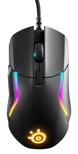 SteelSeries Rival 5 - Gaming-Maus - TrueMove Air Optical Sensor mit 18.000 CPI - 9 programmierbare Tasten -Federleichte 85Gramm