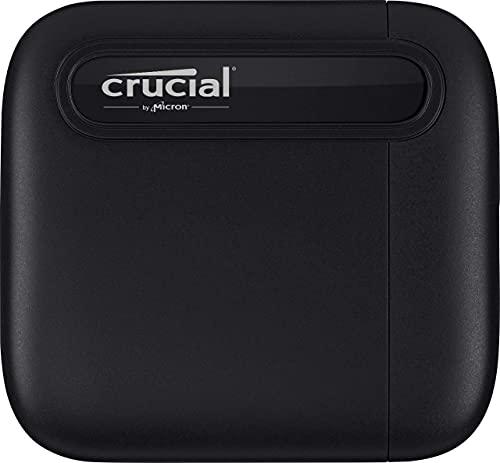 Crucial CT500X6SSD9 X6 500GB Portable SSD – Bis zu 540 MB/s – USB 3.2 – Externes Solid State Drive, USB-C