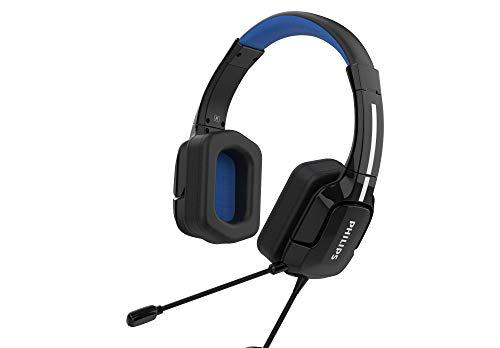 Philips TAGH401/00 - Lightweight Over-Ear Gaming-Headset mit immersive Surround und einstellbarem Kopfband, schwarz