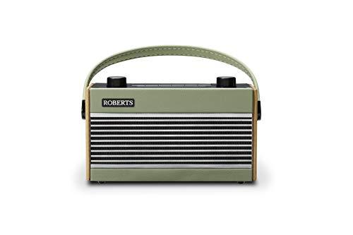 Roberts Radio RamblerBT Green tragbares DAB+ Retroradio mit Bluetooh und Alarm