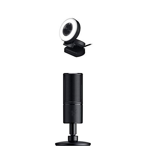 Razer Streamer und Broadcaster Bundle - Kiyo (Full HD Streaming-Kamera) + Seirēn X (Profi Kondensator-Mikrofon)