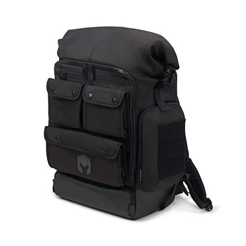 CATURIX DECISIUN - Gaming-Rucksack für Laptops und Konsolen bis 17,3', Wasserabweisender Rucksack mit 51l Volumen, Schwarz
