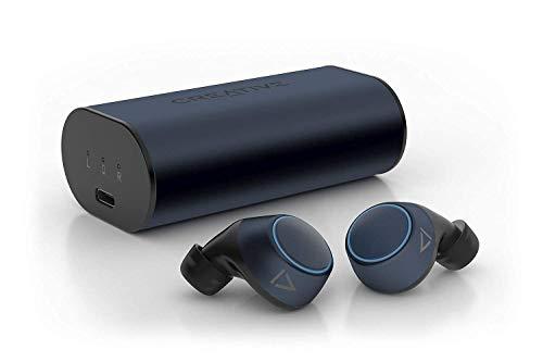 Creative Outlier Air V2 TWS Schweißbeständige True-Wireless-Ohrhörer mit Touch-Bedienung, Graphen-Membran, Bluetooth 5.0, aptX, AAC, 34 Std. Akkulaufzeit bei 12 Std. pro Ladung