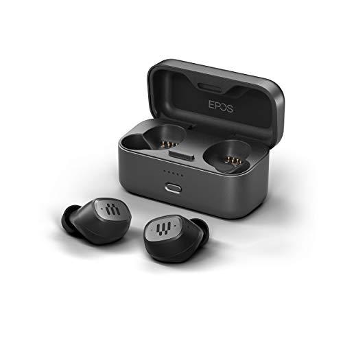 EPOS GTW 270 Kabellose Gaming Bluetooth Kopfhörer In Ear, Geräuschreduzierend, Geschlossenes Design, Dual-Mikrofone, Ergonomisch, IPX 5 Wasserdicht, Ladegerät, 20 h Spielzeit