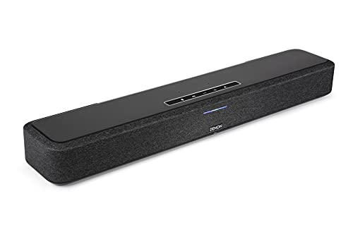 Denon Home Sound Bar 550 kompakte Heimkino Soundbar mit Dolby Atmos, DTS:X, Alexa Built-in, WLAN, Bluetooth, AirPlay 2, HEOS Built-in, HDMI eARC, 4K Ultra-HD, Dolby Vision, HDR10
