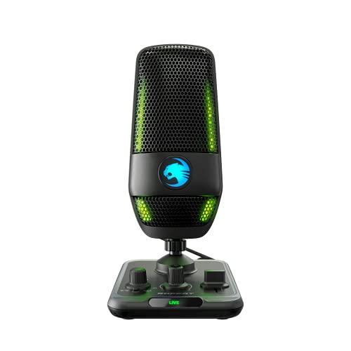 Roccat Torch - USB-Mikrofon in Studioqualität, schwarz