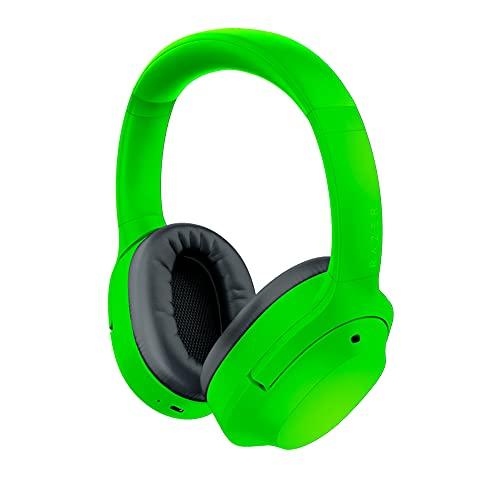 Razer Opus X (Green) - Kabellose Kopfhörer mit niedrigen Latenzen und ANC-Technologie (Wireless Headset, Bluetooth 5.0, bis 40 Stunden Akku, Mikrofon, Umgebungsmodus) Grün