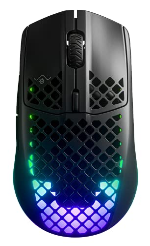 SteelSeries 62604 Aerox 3 Wireless - Superleichte kabellose Gaming-Maus - Optischer TrueMove Air Sensor mit 18 CPI - 200 Stunden Akkulaufzeit - Schwarz